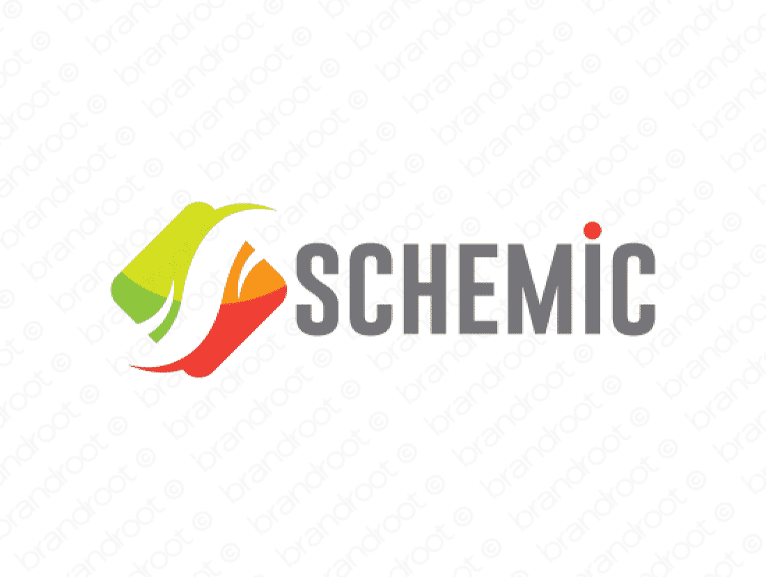 Schemic logo design included with business name and domain name, Schemic.com.