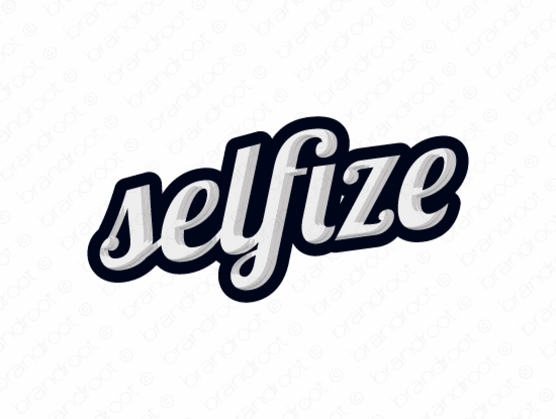 Selfize logo design included with business name and domain name, Selfize.com.
