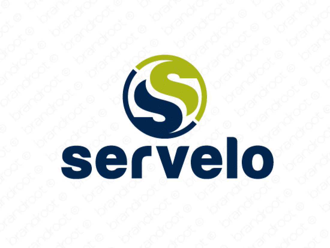 Servelo logo design included with business name and domain name, Servelo.com.
