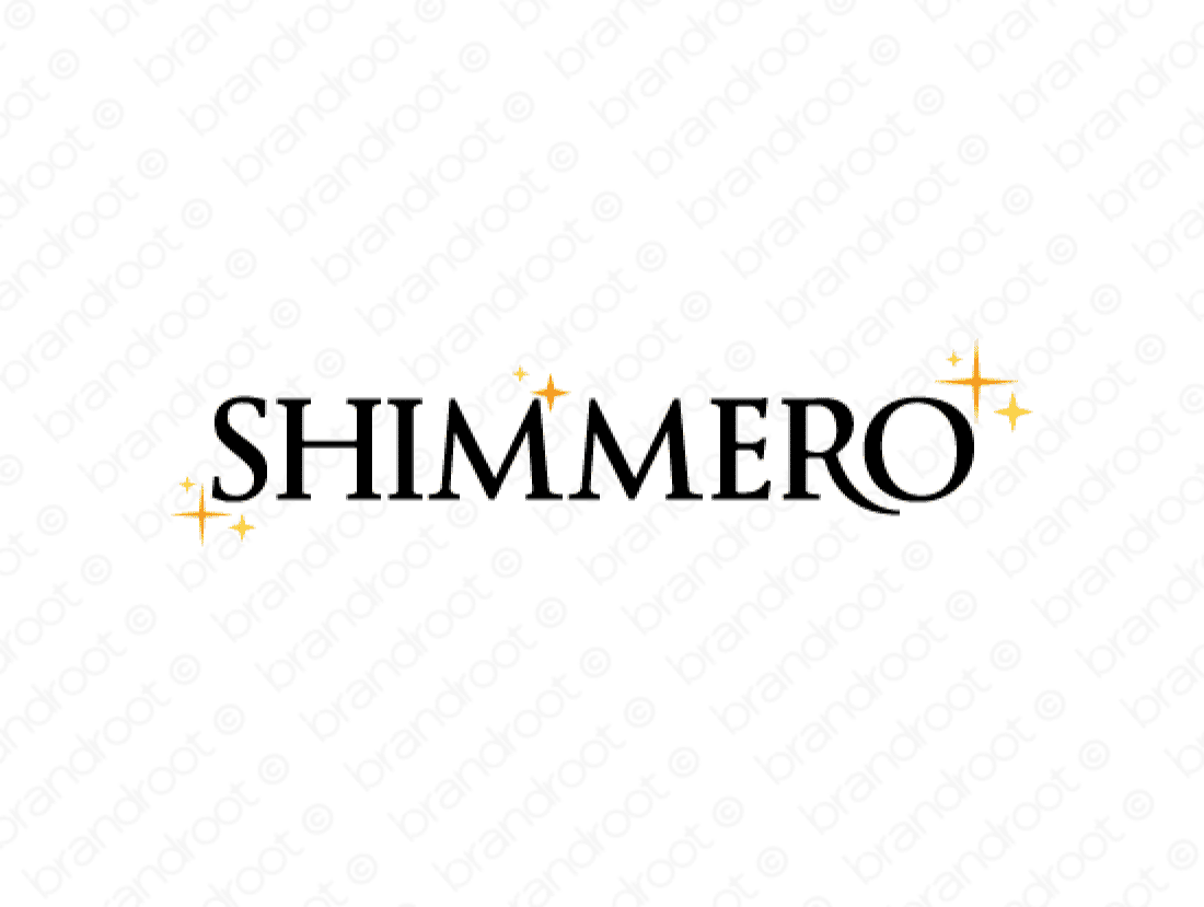 Shimmero logo design included with business name and domain name, Shimmero.com.