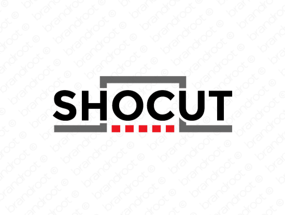Shocut logo design included with business name and domain name, Shocut.com.