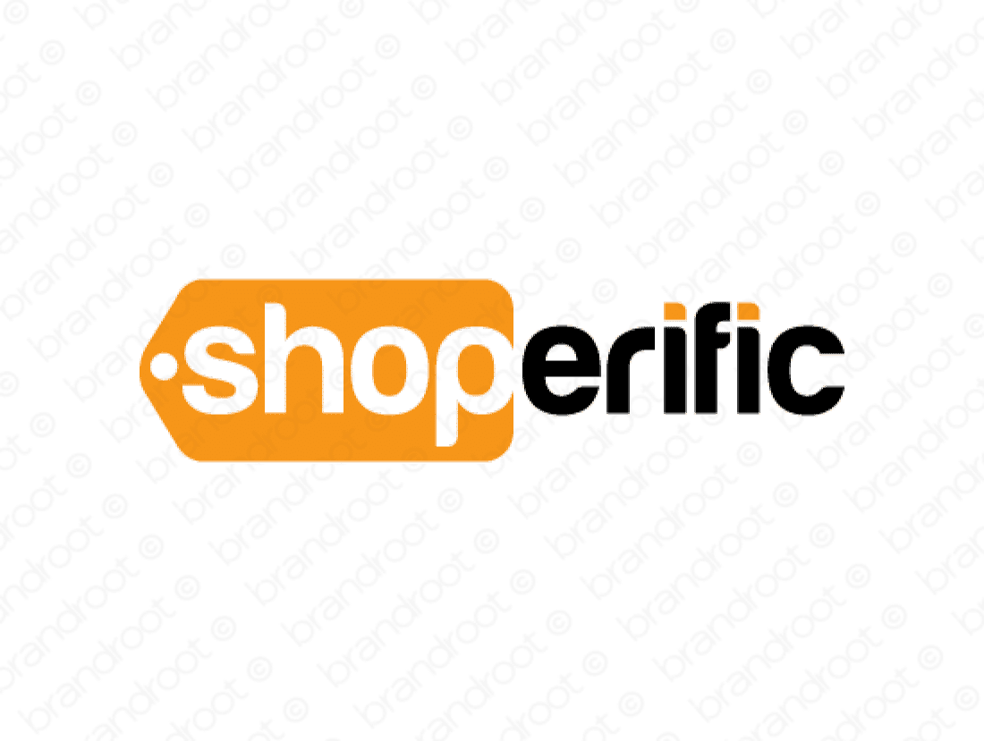 Shoperific logo design included with business name and domain name, Shoperific.com.