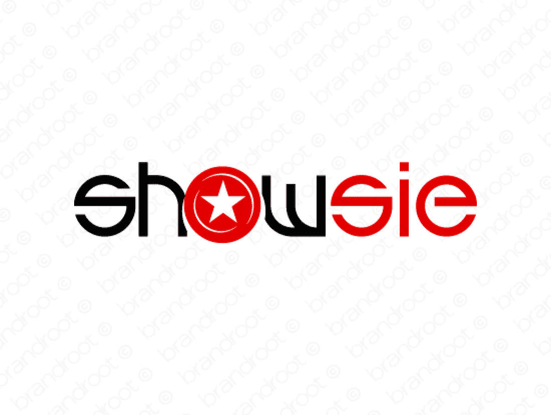 Showsie logo design included with business name and domain name, Showsie.com.