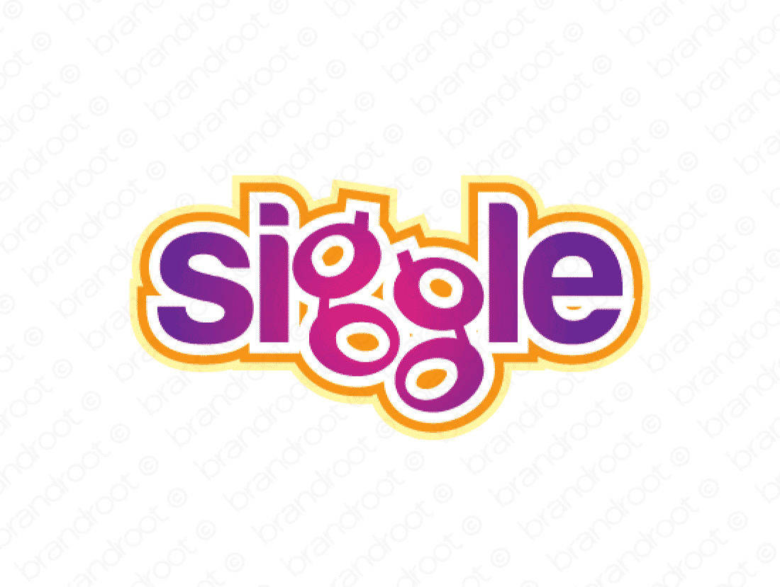 Siggle logo design included with business name and domain name, Siggle.com.