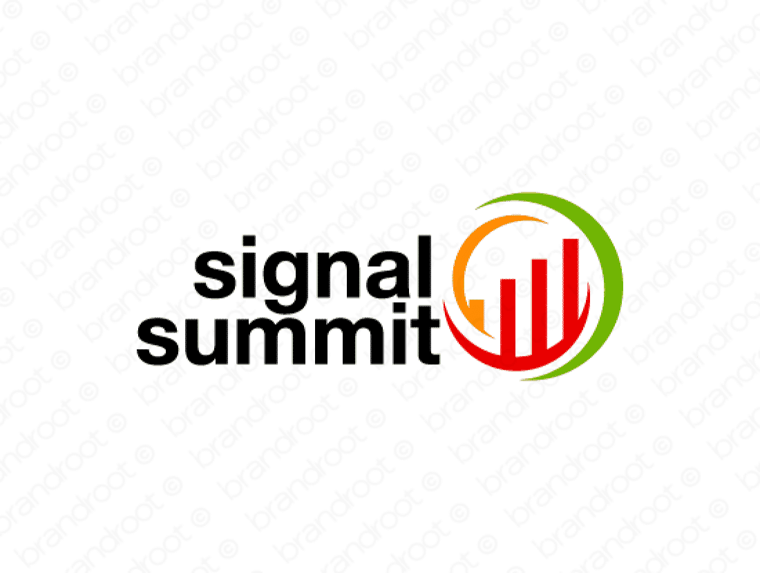 Signalsummit logo design included with business name and domain name, Signalsummit.com.
