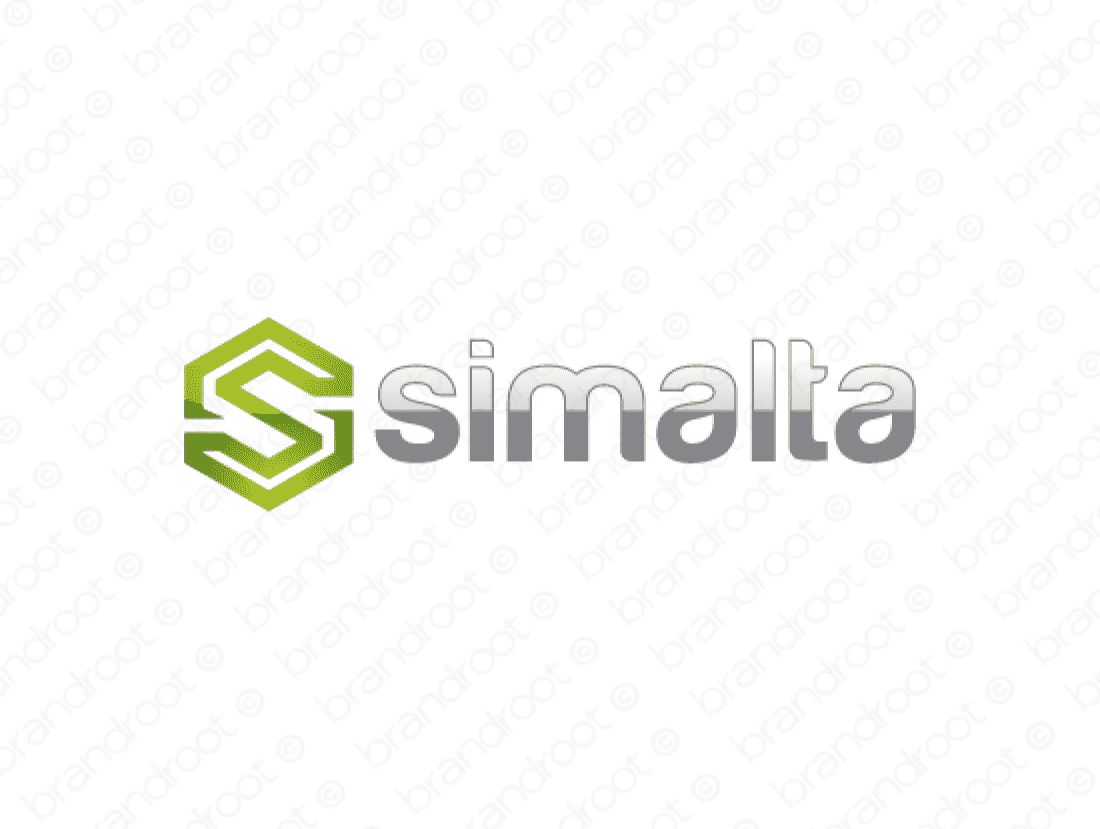 Simalta logo design included with business name and domain name, Simalta.com.