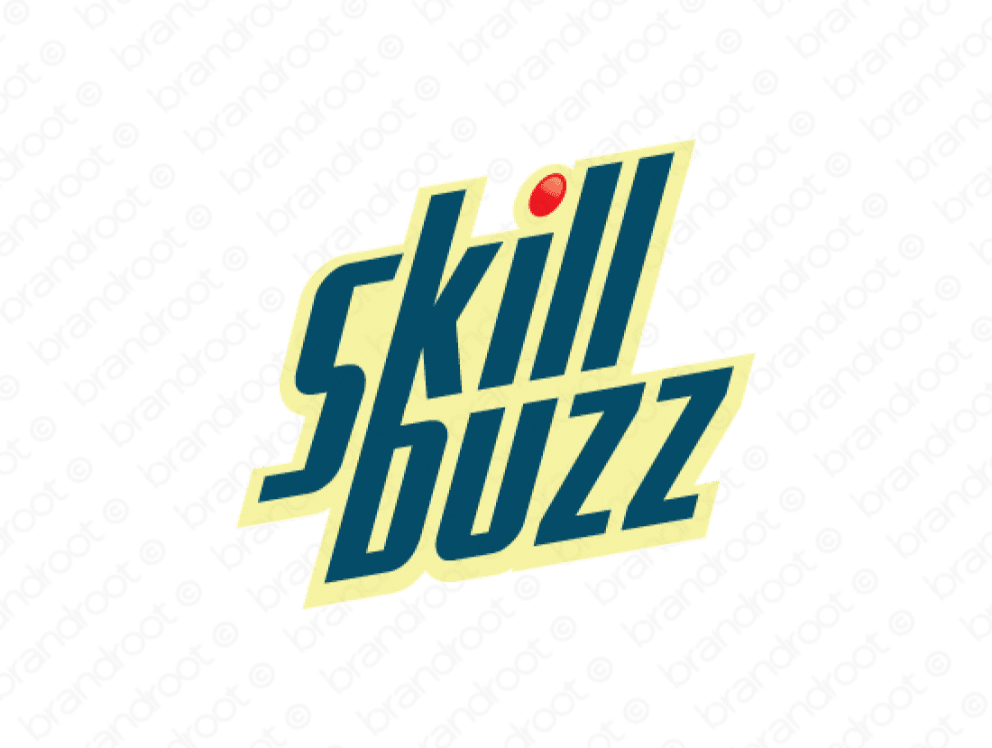 Skillbuzz logo design included with business name and domain name, Skillbuzz.com.