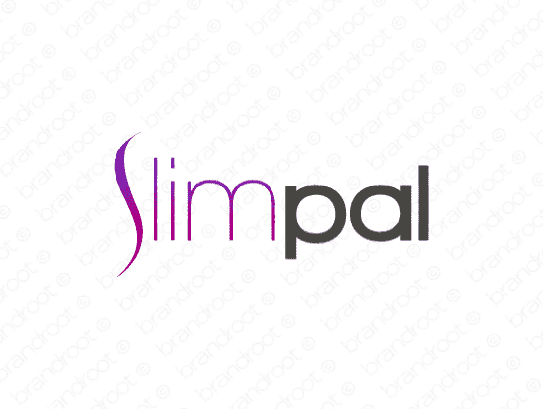 Slimpal logo design included with business name and domain name, Slimpal.com.