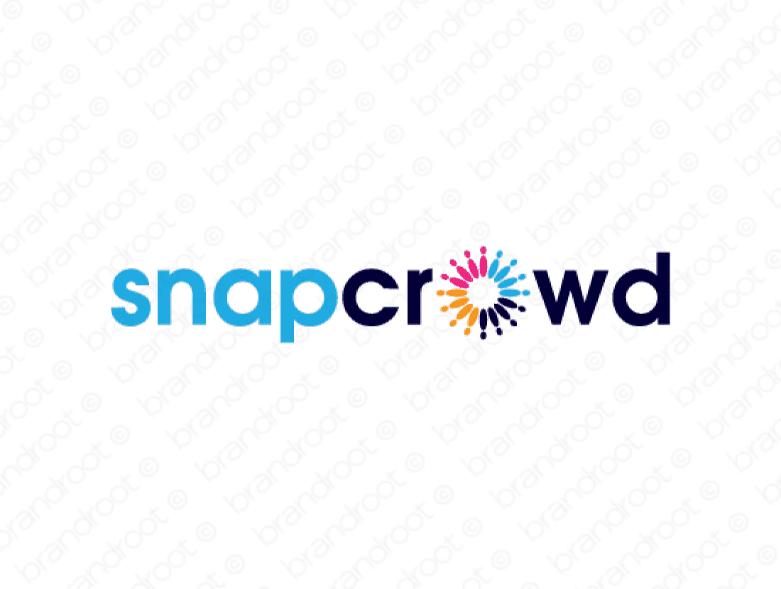 Snapcrowd logo design included with business name and domain name, Snapcrowd.com.