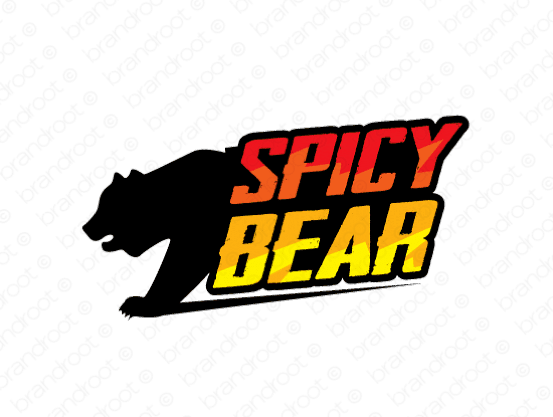 Spicybear logo design included with business name and domain name, Spicybear.com.