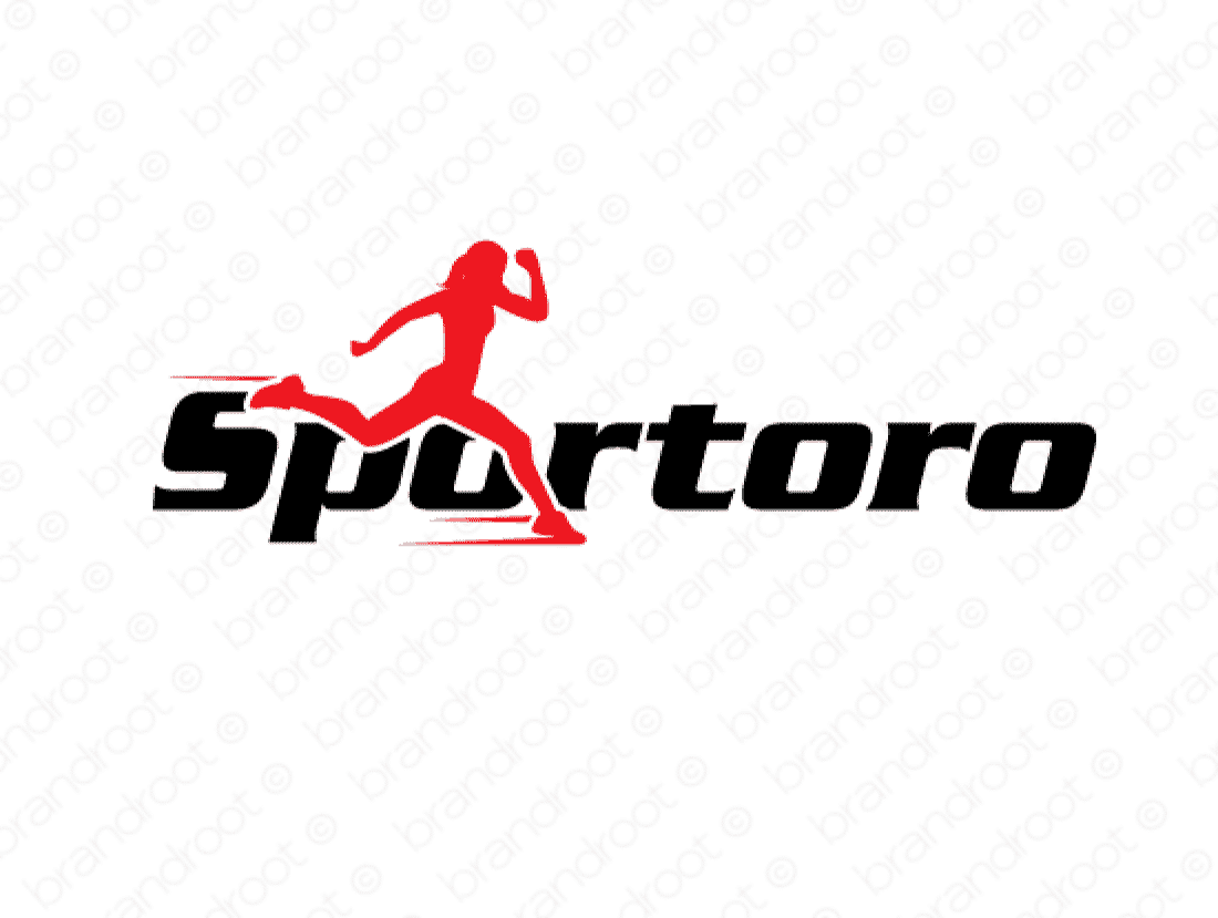 Sportoro logo design included with business name and domain name, Sportoro.com.