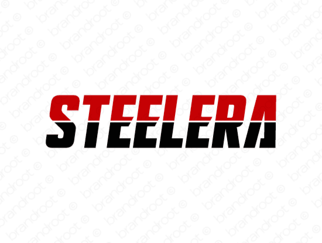 Steelera logo design included with business name and domain name, Steelera.com.