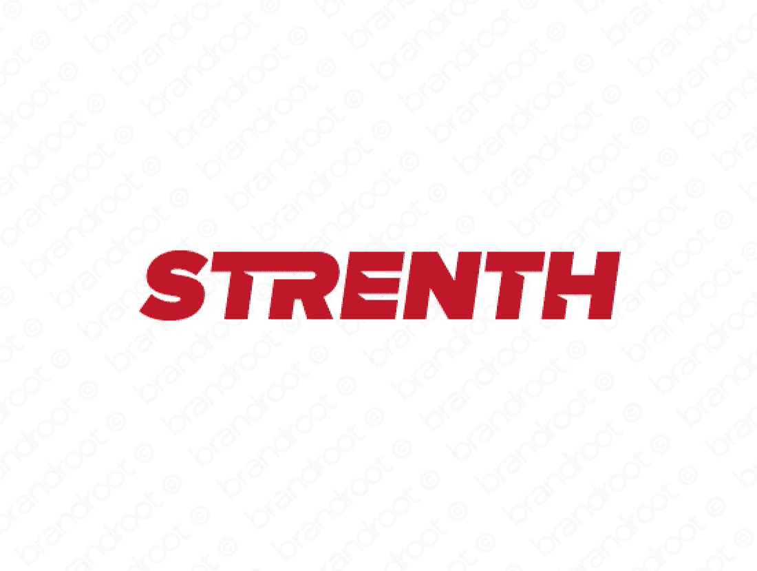 Strenth logo design included with business name and domain name, Strenth.com.