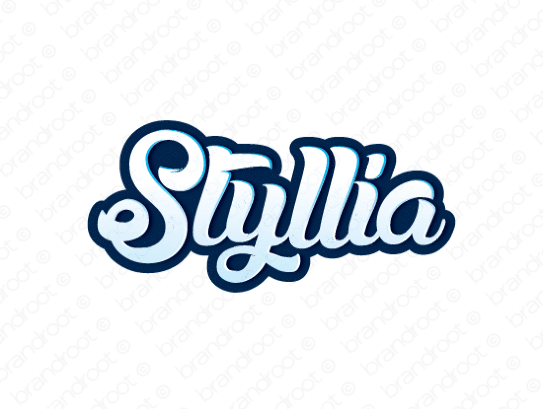Styllia logo design included with business name and domain name, Styllia.com.