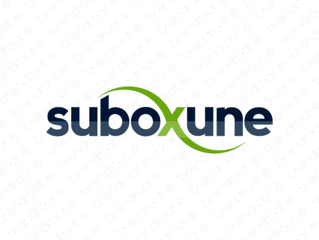 Suboxune logo design included with business name and domain name, Suboxune.com.