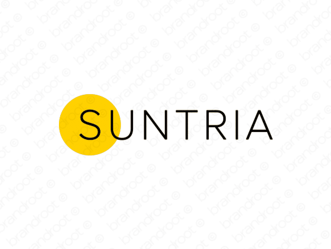 Suntria logo design included with business name and domain name, Suntria.com.