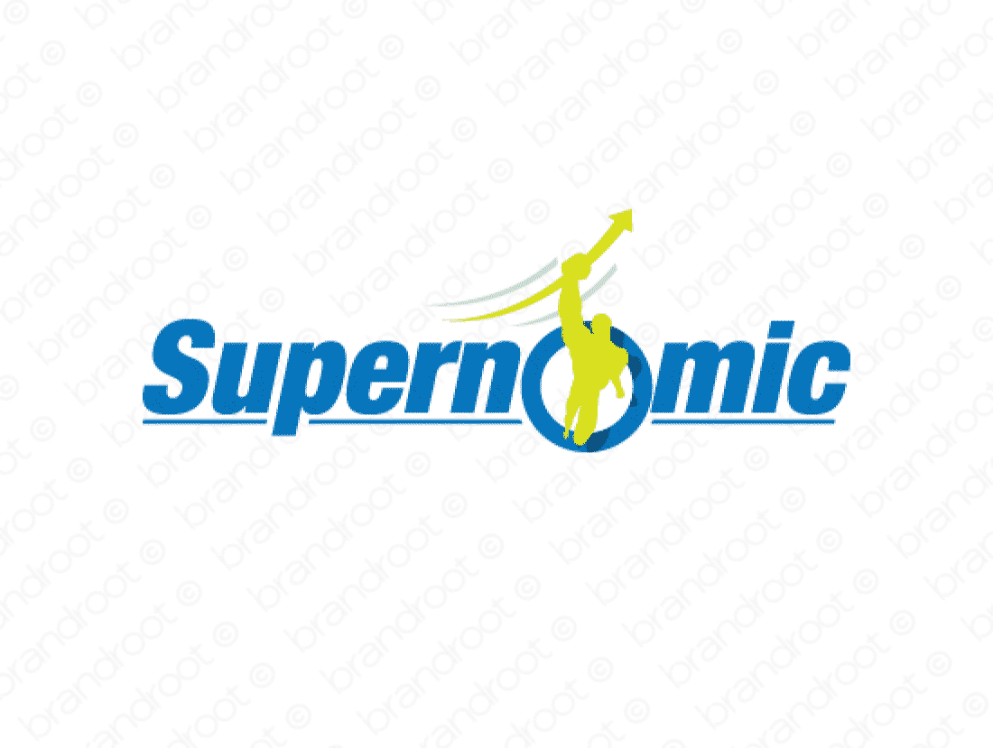 Supernomic logo design included with business name and domain name, Supernomic.com.