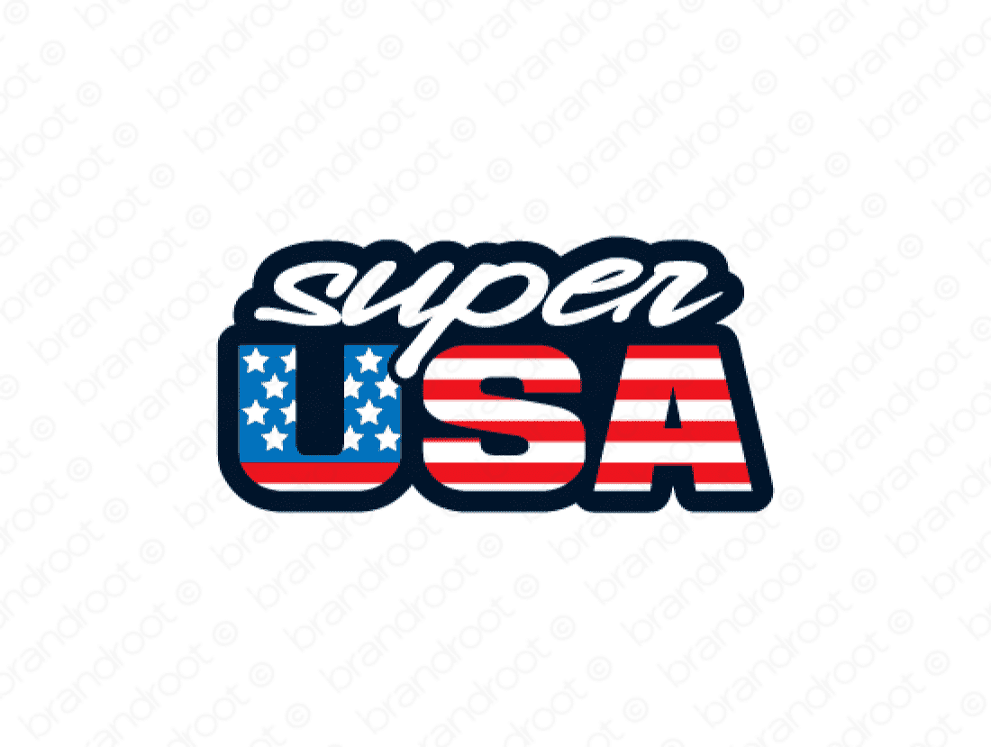 Superusa logo design included with business name and domain name, Superusa.com.