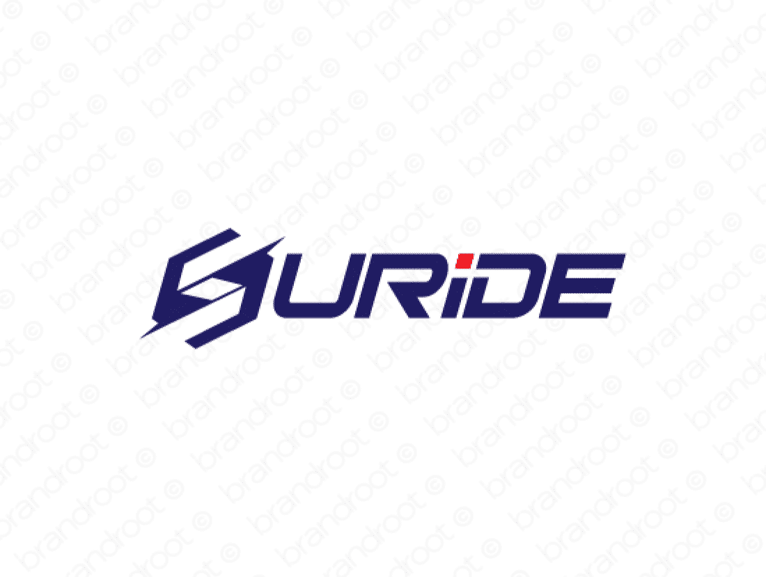 Suride logo design included with business name and domain name, Suride.com.