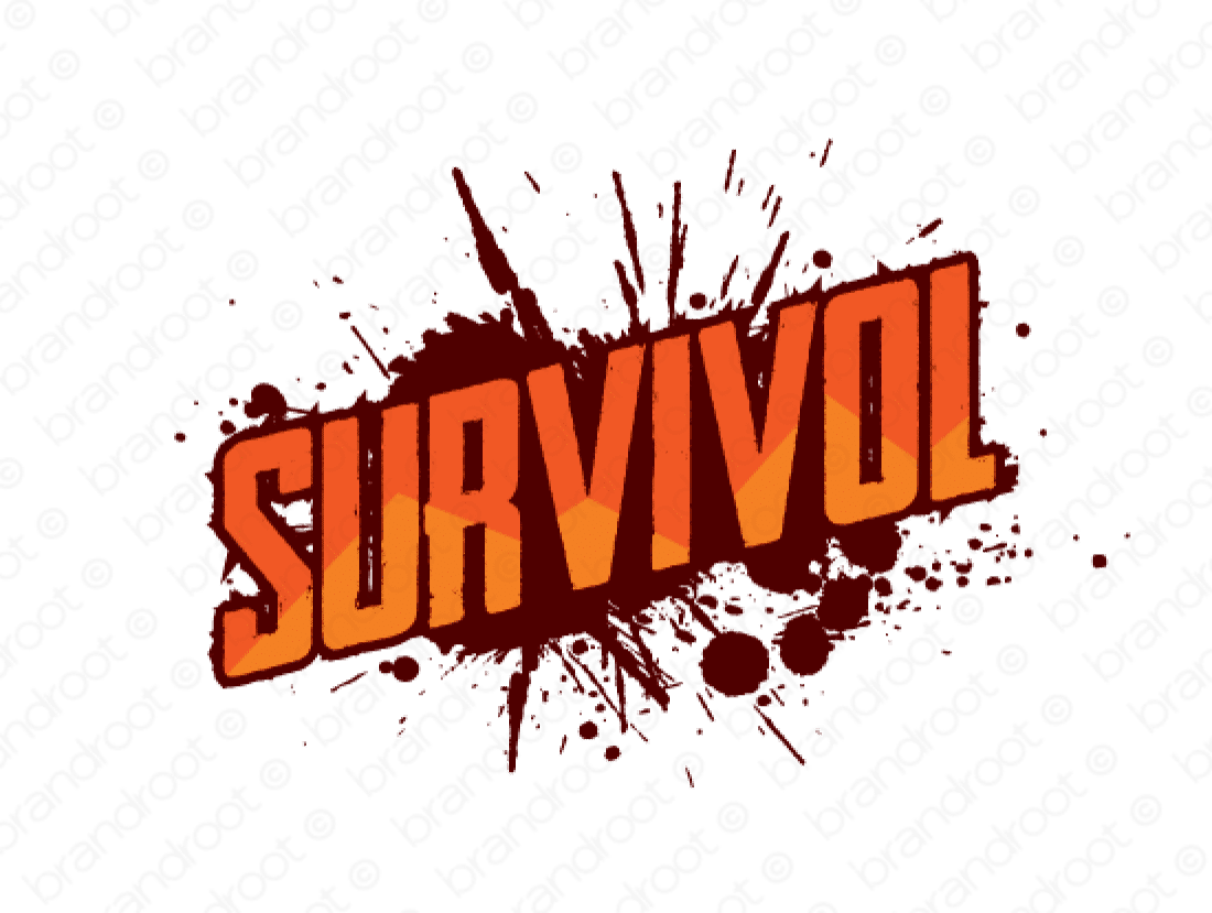 Survivol logo design included with business name and domain name, Survivol.com.