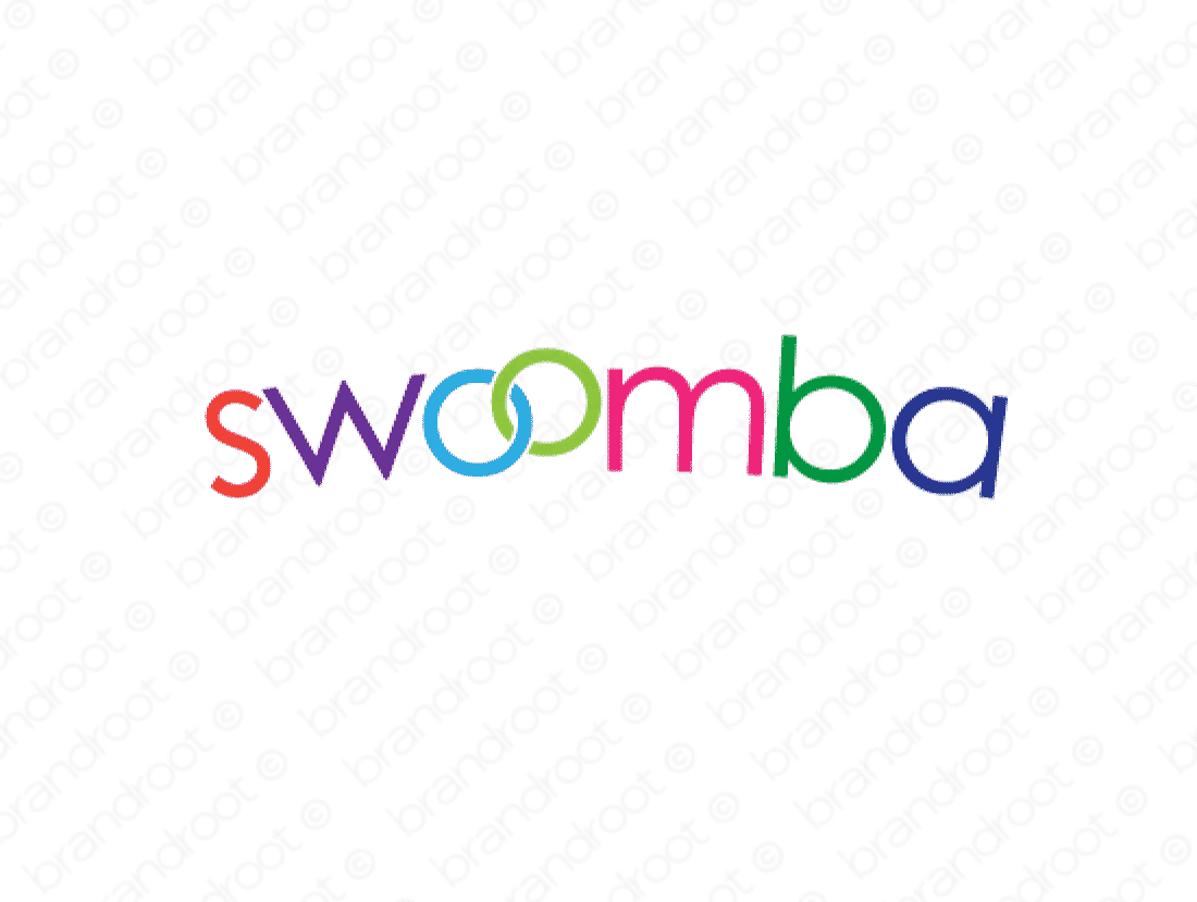 Swoomba logo design included with business name and domain name, Swoomba.com.