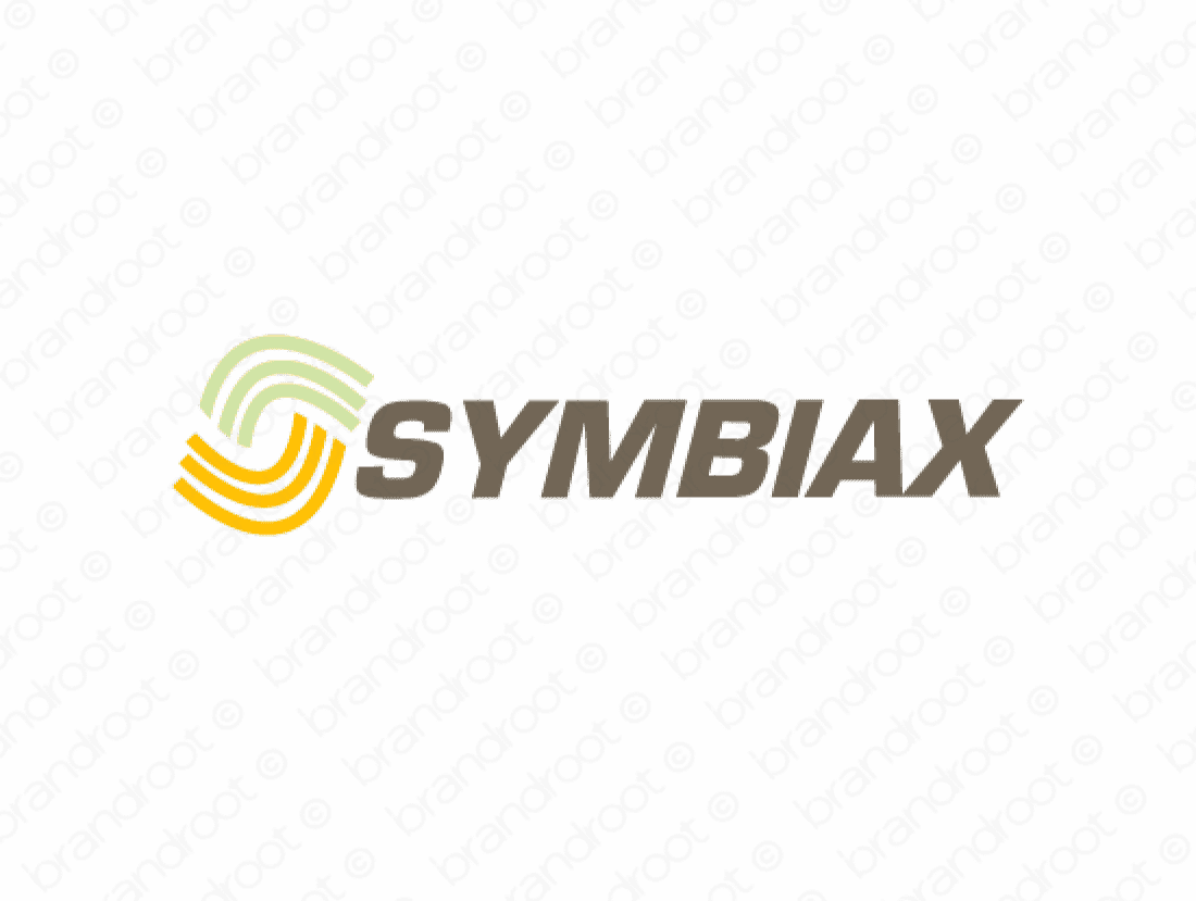 Symbiax logo design included with business name and domain name, Symbiax.com.