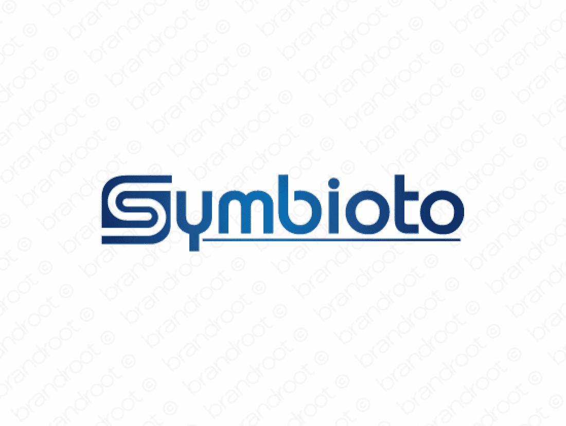 Symbioto logo design included with business name and domain name, Symbioto.com.