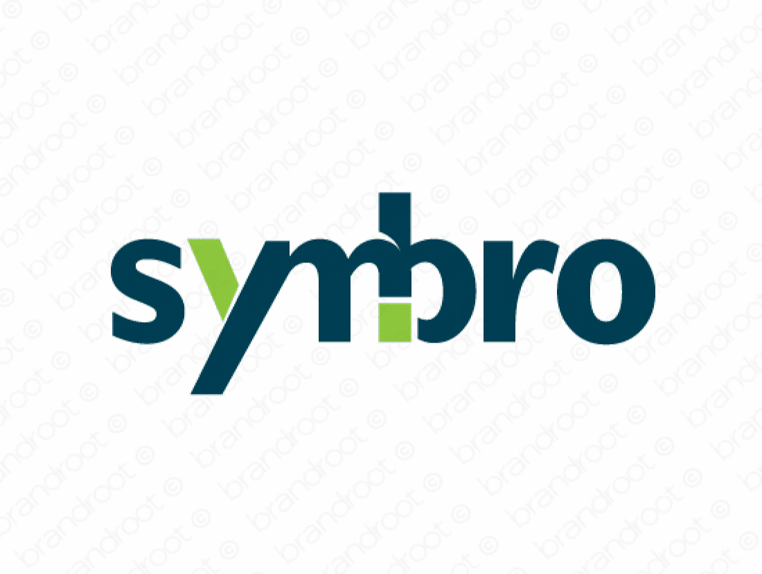 Symbro logo design included with business name and domain name, Symbro.com.