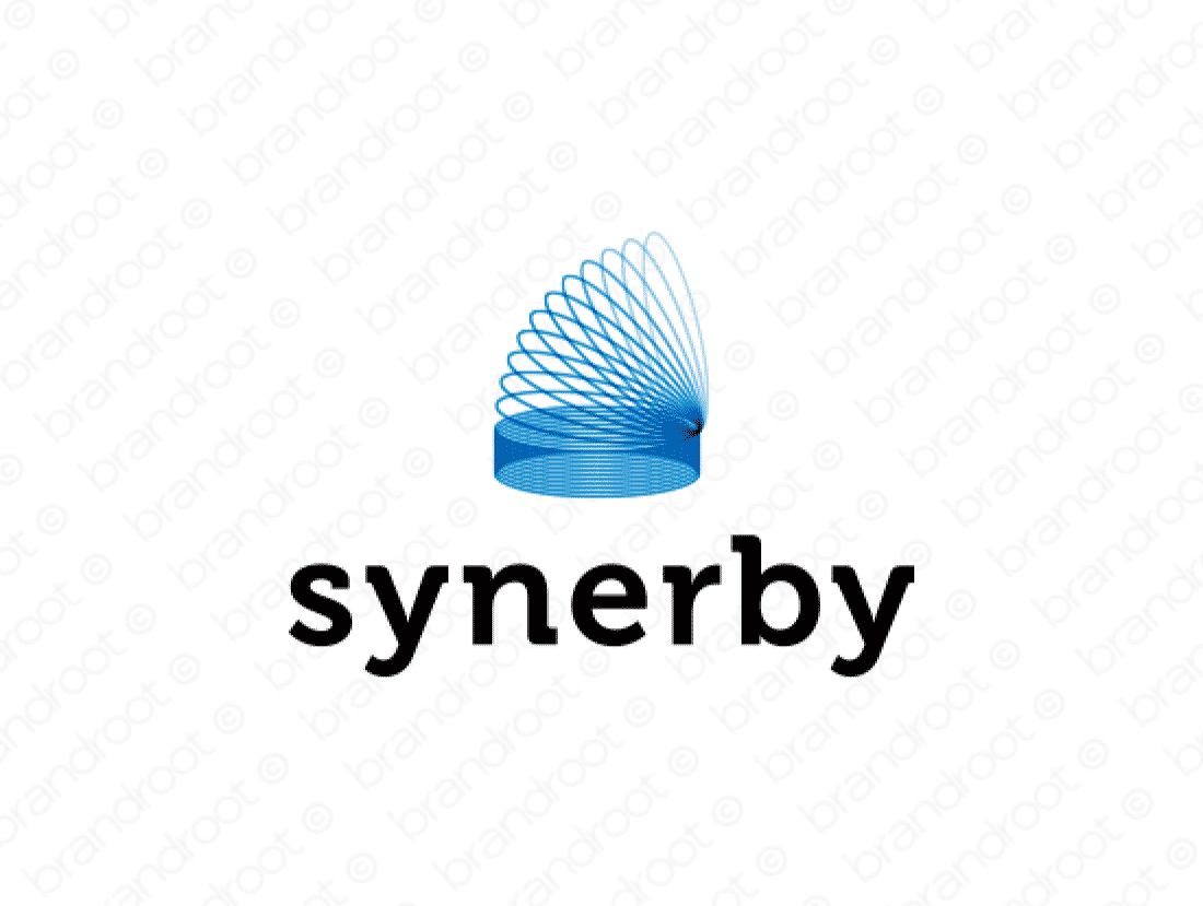 Synerby logo design included with business name and domain name, Synerby.com.