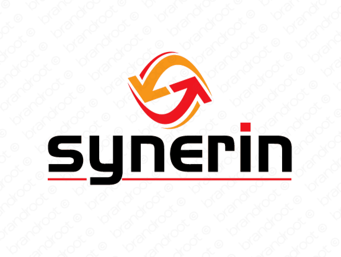 Synerin logo design included with business name and domain name, Synerin.com.