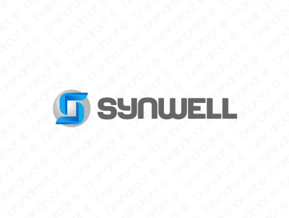 Synwell logo design included with business name and domain name, Synwell.com.