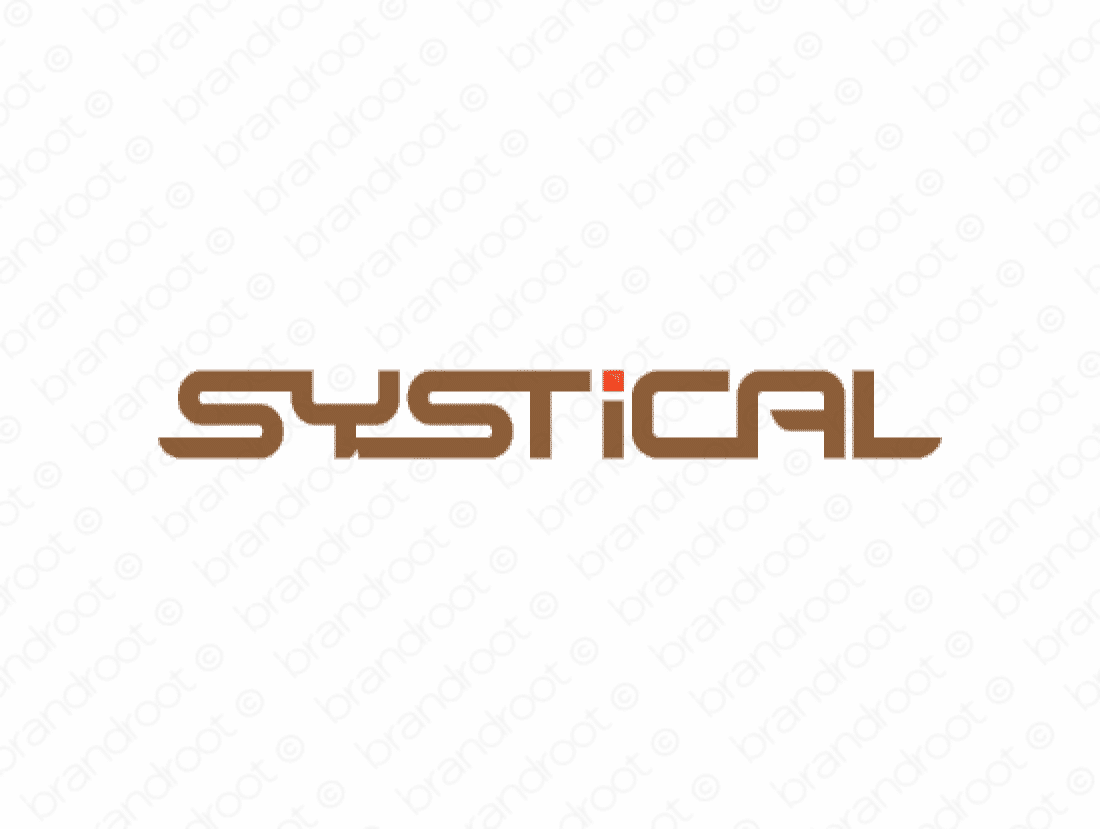 Systical logo design included with business name and domain name, Systical.com.