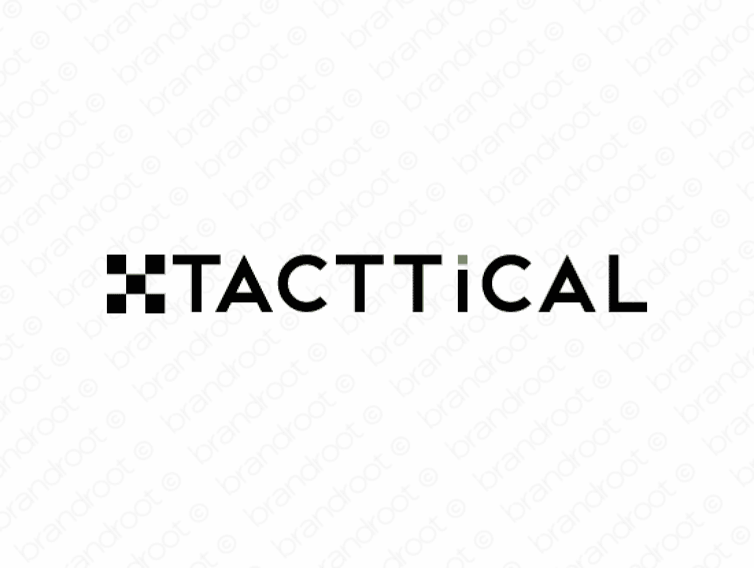 Tacttical logo design included with business name and domain name, Tacttical.com.