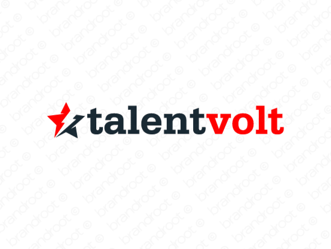 Talentvolt logo design included with business name and domain name, Talentvolt.com.