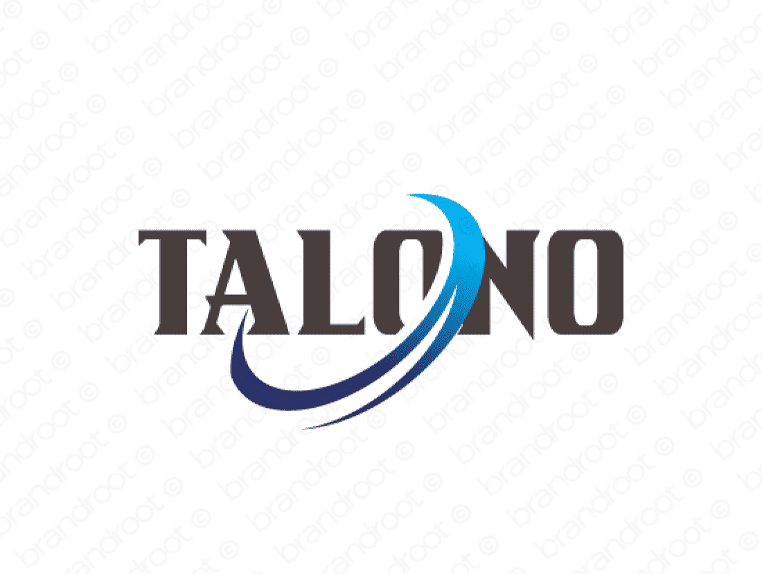 Talono logo design included with business name and domain name, Talono.com.