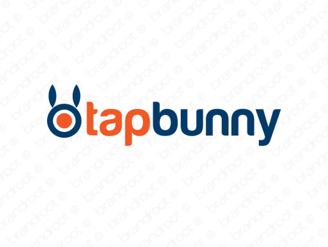 Tapbunny logo design included with business name and domain name, Tapbunny.com.