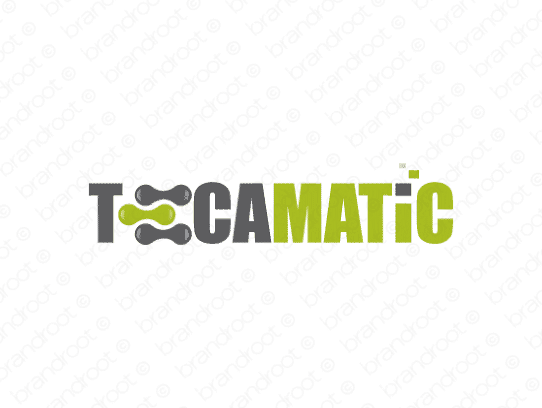 Tecamatic logo design included with business name and domain name, Tecamatic.com.