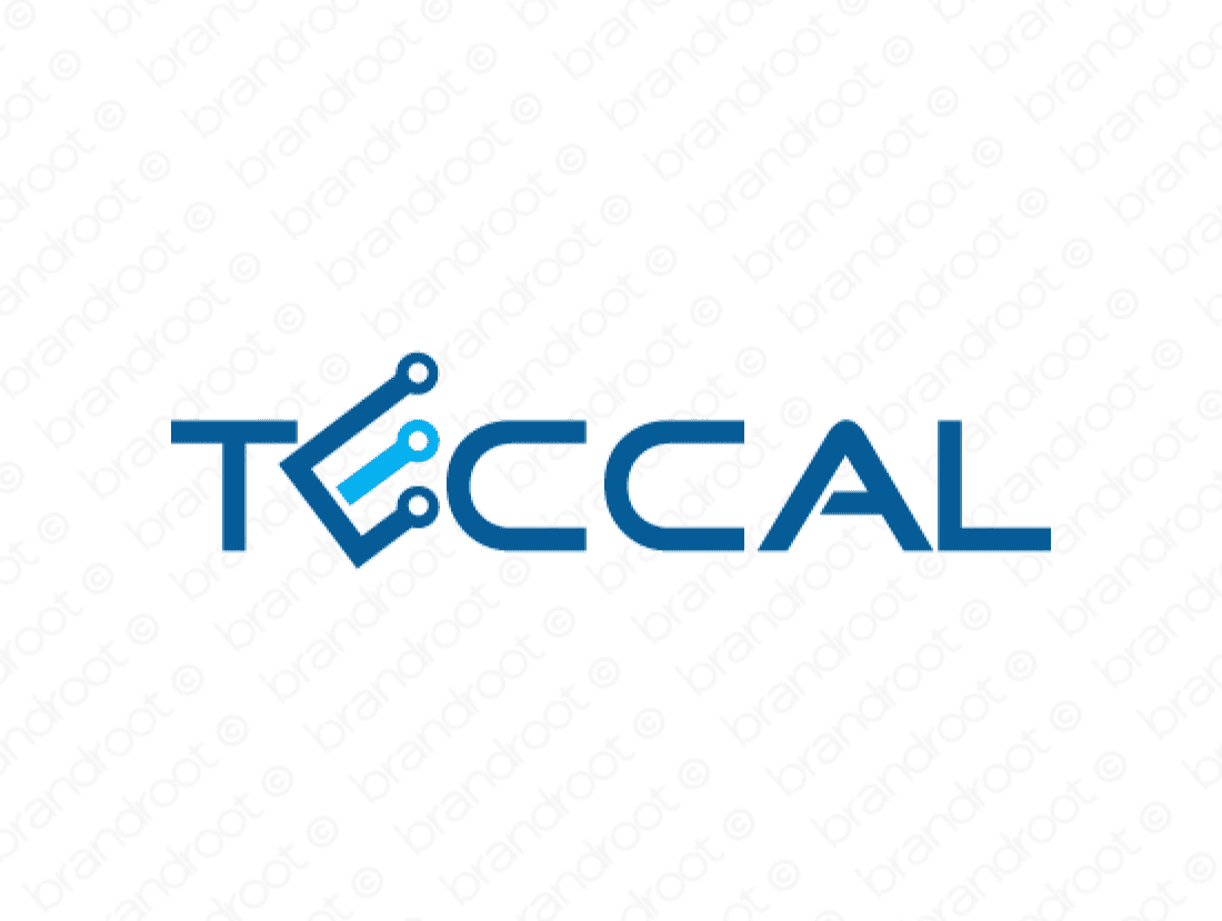 Teccal logo design included with business name and domain name, Teccal.com.