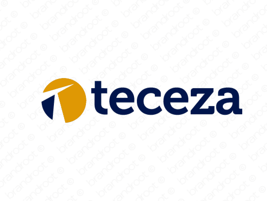 Teceza logo design included with business name and domain name, Teceza.com.