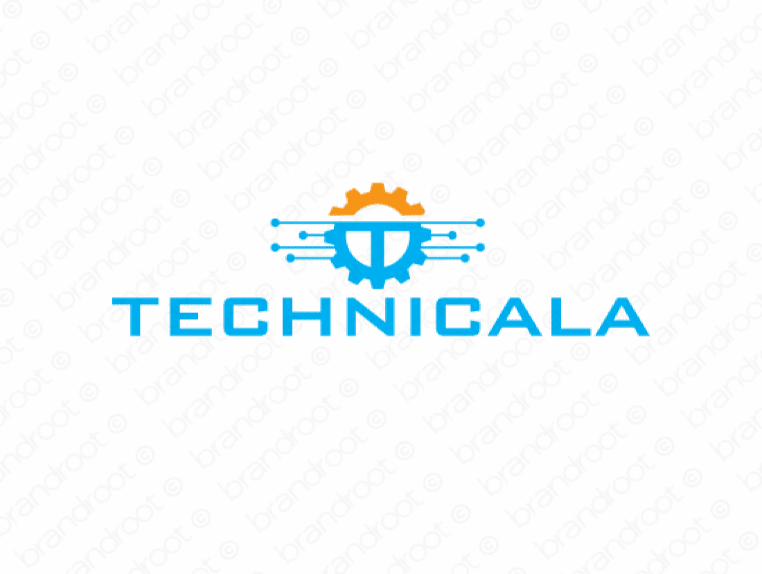 Technicala logo design included with business name and domain name, Technicala.com.