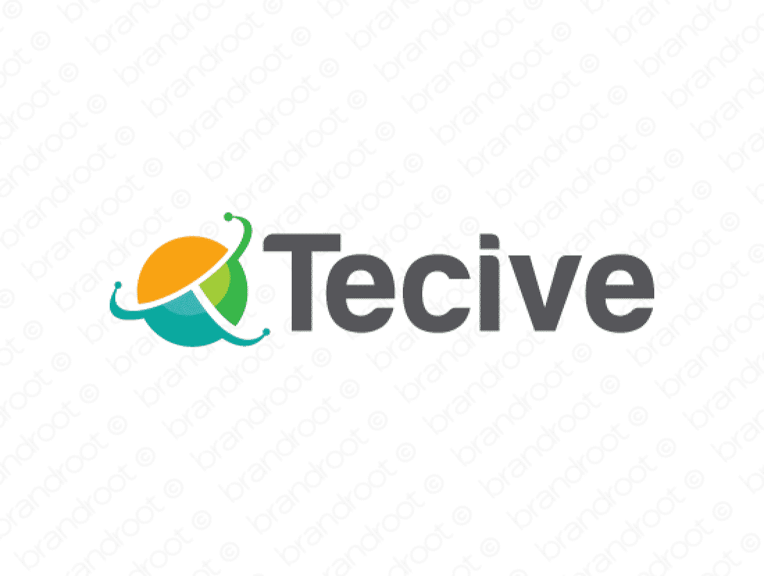 Tecive logo design included with business name and domain name, Tecive.com.