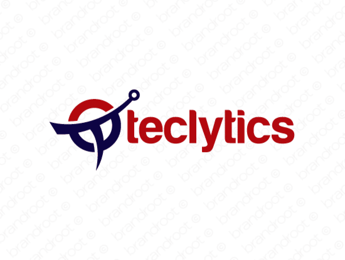 Teclytics logo design included with business name and domain name, Teclytics.com.