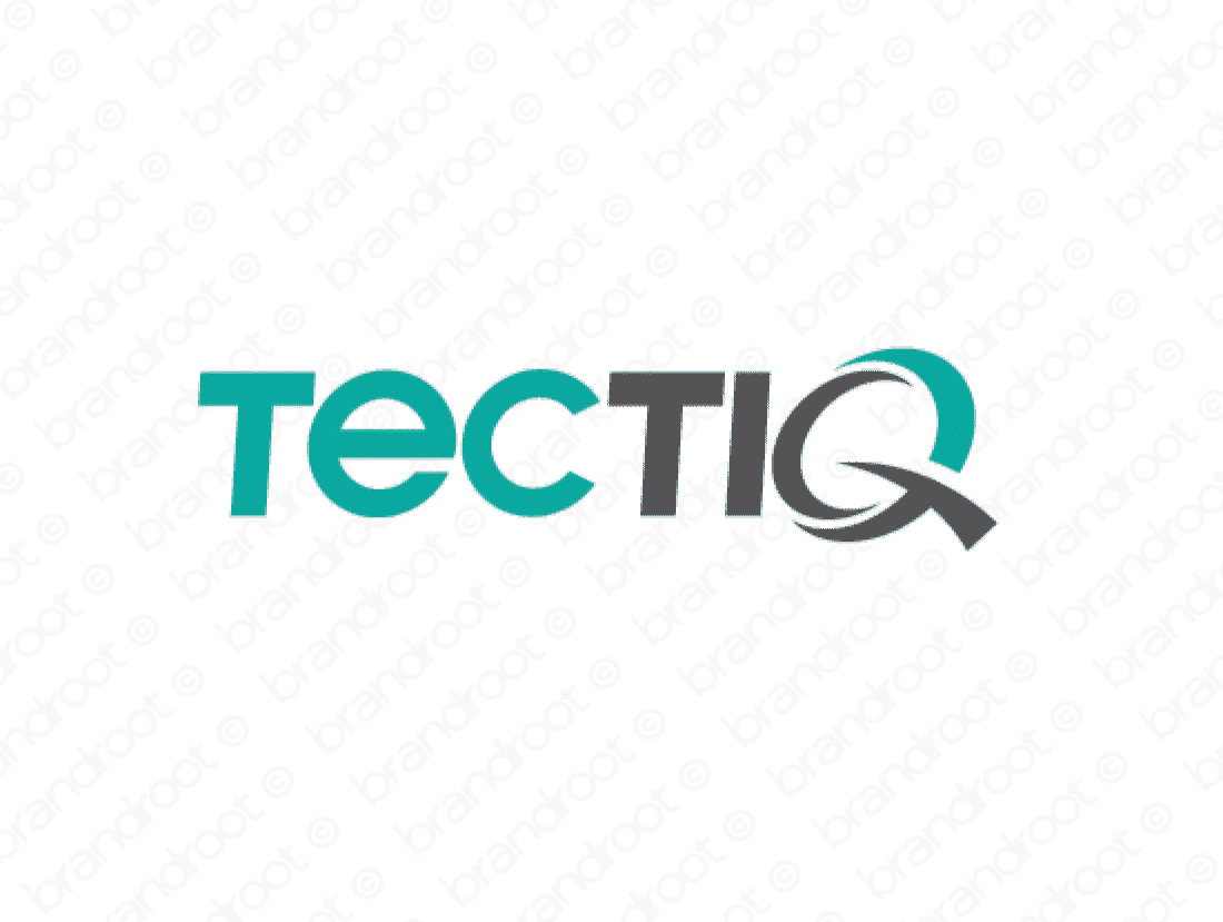 Tectiq logo design included with business name and domain name, Tectiq.com.