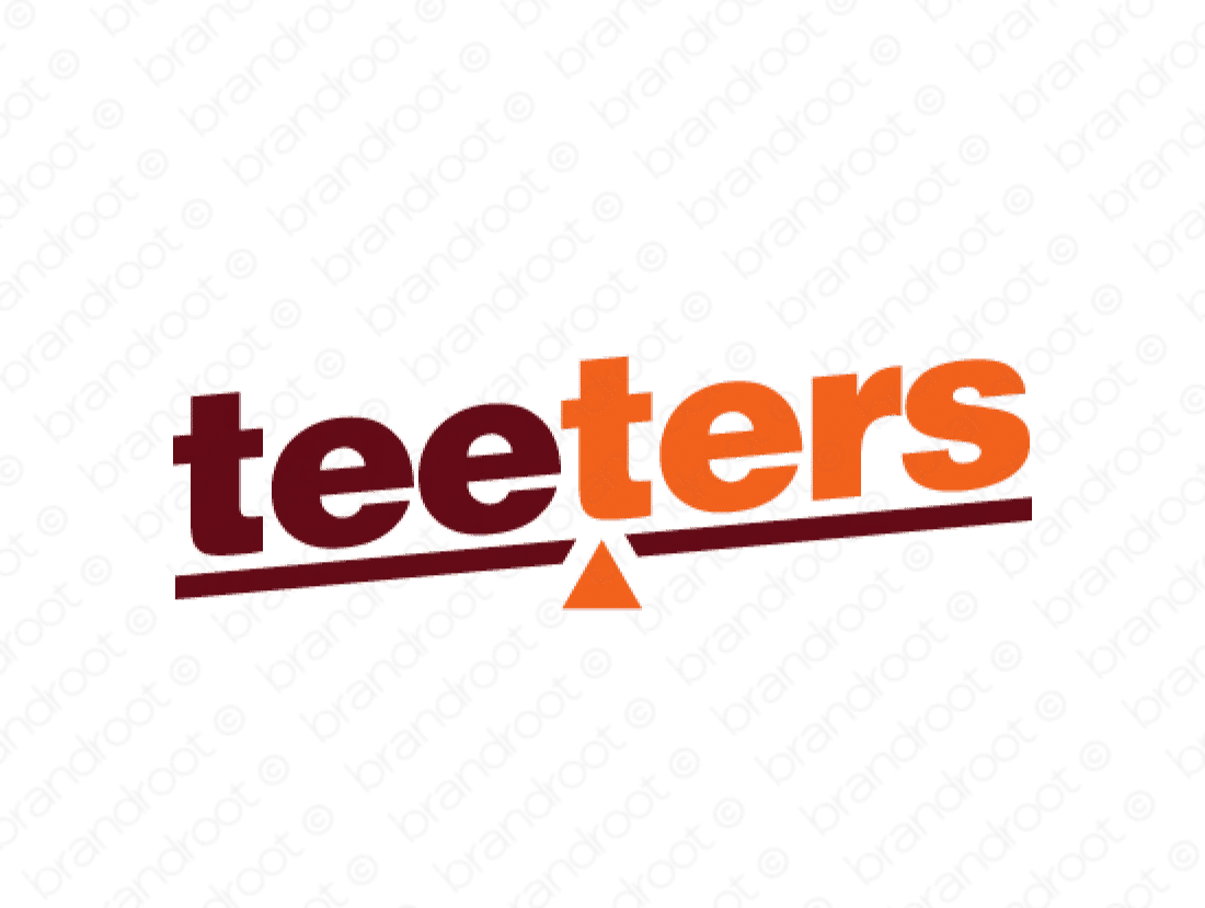 Teeters logo design included with business name and domain name, Teeters.com.