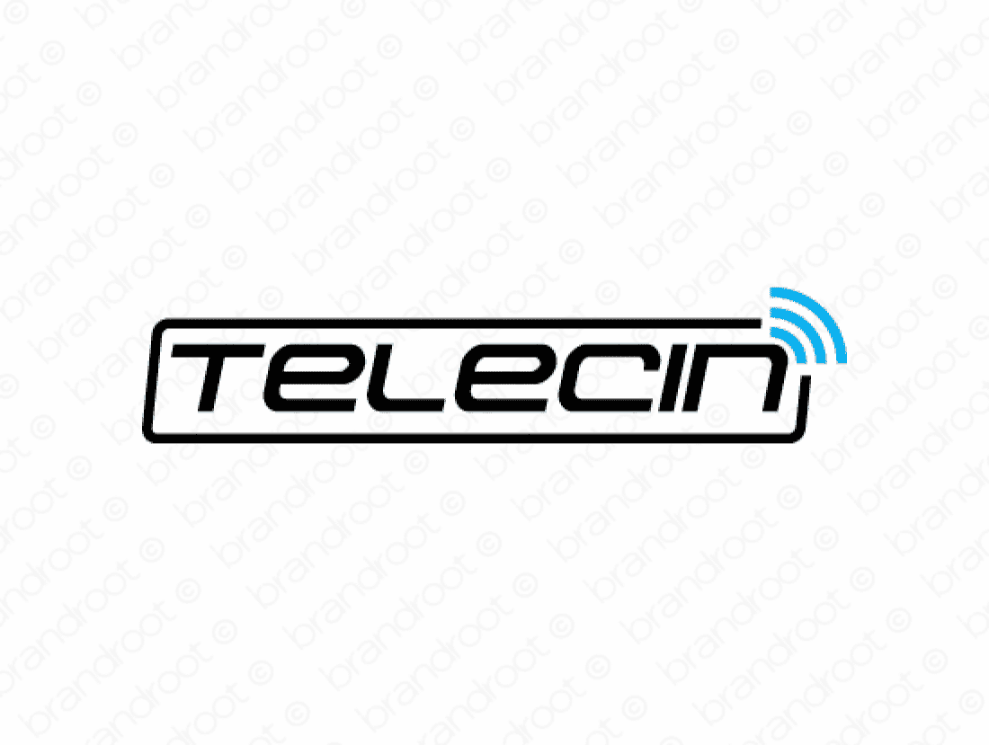 Telecin logo design included with business name and domain name, Telecin.com.