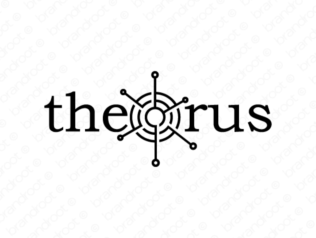 Theorus logo design included with business name and domain name, Theorus.com.