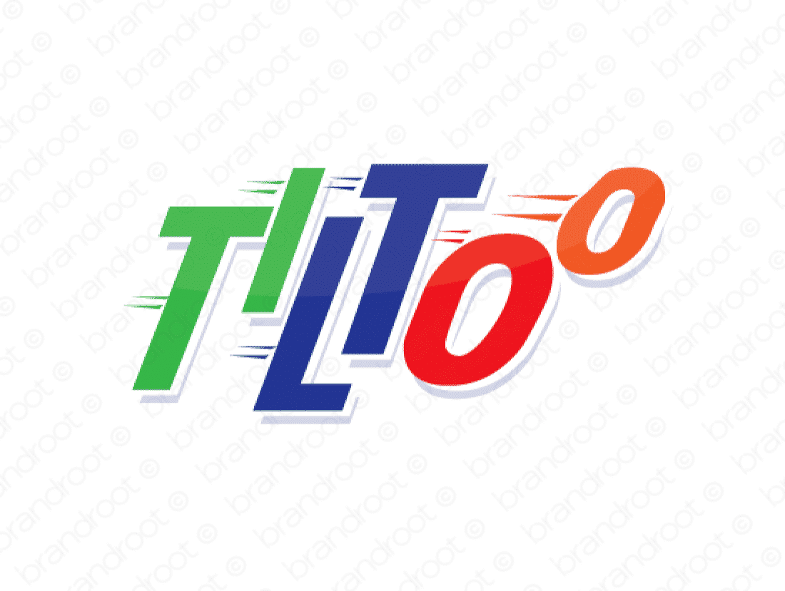 Tiltoo logo design included with business name and domain name, Tiltoo.com.