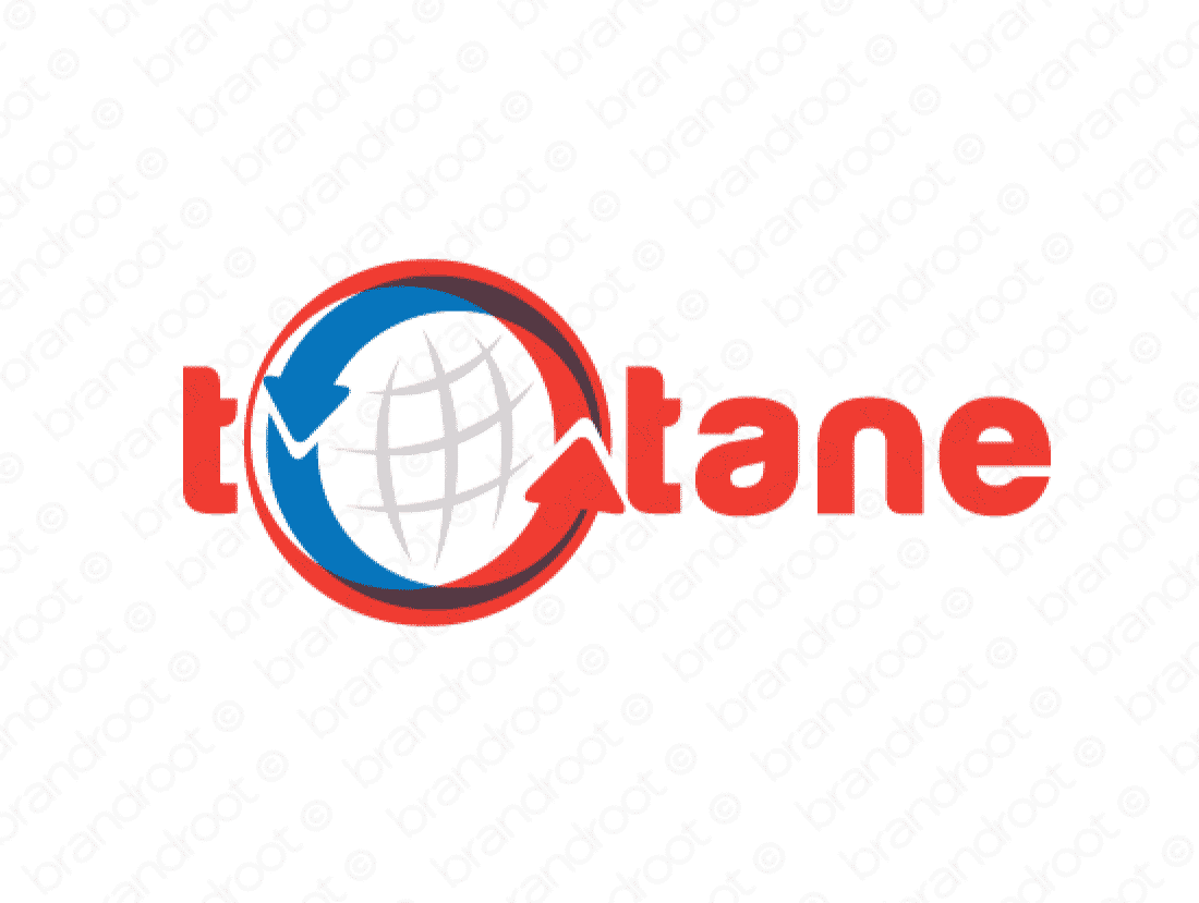 Totane logo design included with business name and domain name, Totane.com.
