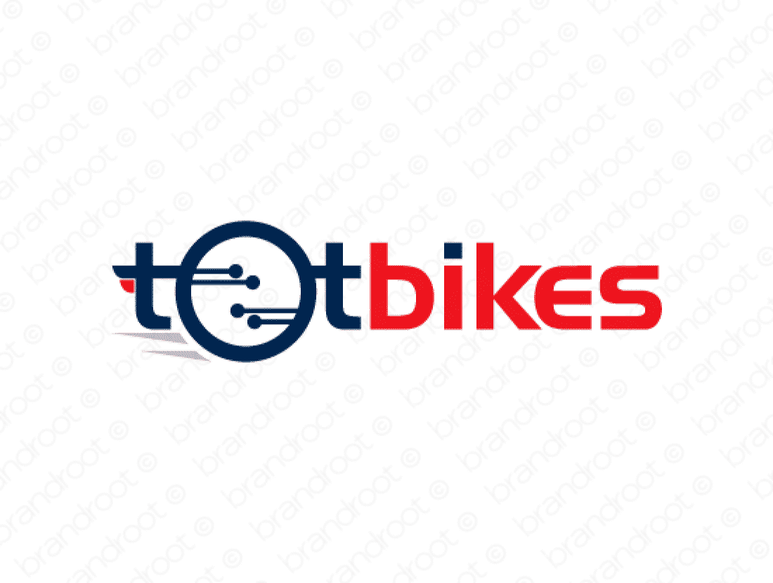 Totbikes logo design included with business name and domain name, Totbikes.com.