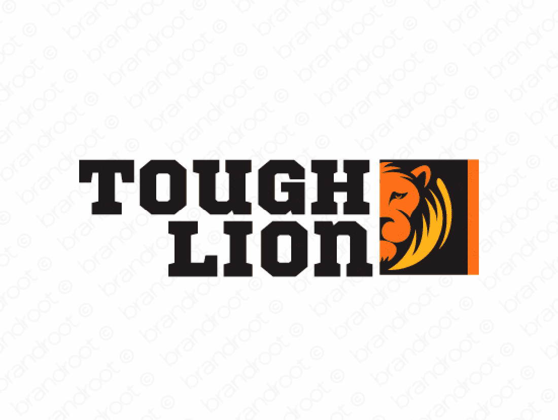 Toughlion logo design included with business name and domain name, Toughlion.com.